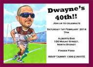 Manly Sea Eagles Personalised Cariacture Birthday Party Invitation