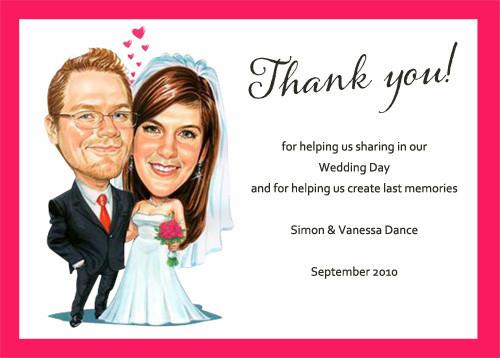 Buy Custom Caricature Wedding Invitations Australia Personalised – Wedding Thank You Cards