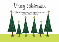 Christmas Tree Christmas Party Invitations and Christmas Greeting Card