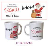 Santa ho ho ho Christmas personalised mug