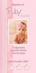 Pink Ribbon Baptism & Christening Ceremony Candles