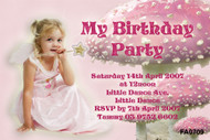 Fairy Birthday Party Invitations