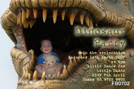 Dinosaur Fantasy Birthday Party Invitations