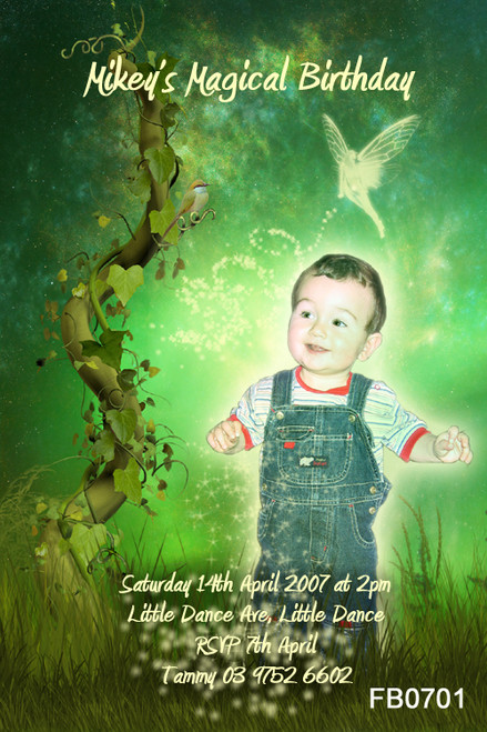 Jack and Beanstalk Birthday Party Invitations
