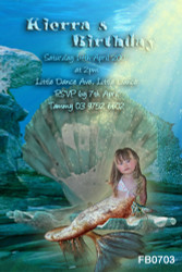 Mermaid Birthday Party Invitations