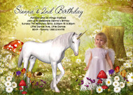 Unicorn Fantasy Birthday Party Invitation