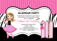 Glamour Party Birthday Party Invitations
