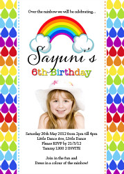 Invitations - Rainbow Party Invitation