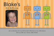 Robot Party Birthday Party Invitation