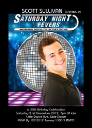 Saturday Night Fever Birthday Party Invitation