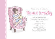 Sip n Sew Birthday Party Invitation
