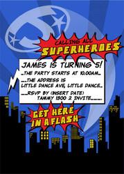 Invitations - Superhero Boy