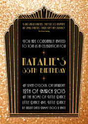 The Great Gatsby 1920s Birthday Party Invitation