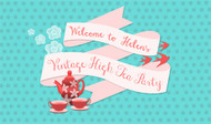 Party Backdrops - Vintage High Tea