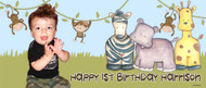 Party Banner - King of the Jungle Birthday Party Banner