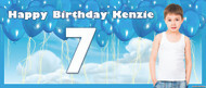 Party Banners - Blue Balloons Banner