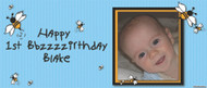 Party Banners - Buzzy Bee Birthday Banner