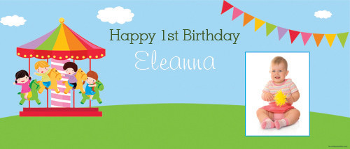 cheap-personalised-party-banners-online-carnival-carousel-design
