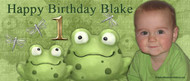 Party Banners - Green Frog Birthday Party Banner