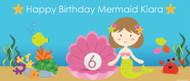 Mermaid Under the Sea Personalised Birthday Banner. Printed in Australia