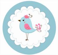Blue bird Party Spot Sticker Labels