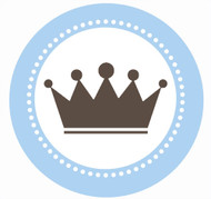 Little Prince Crown Party Spot Sticker Labels