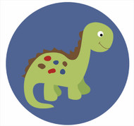 Dinosaur Party Spot Sticker Labels