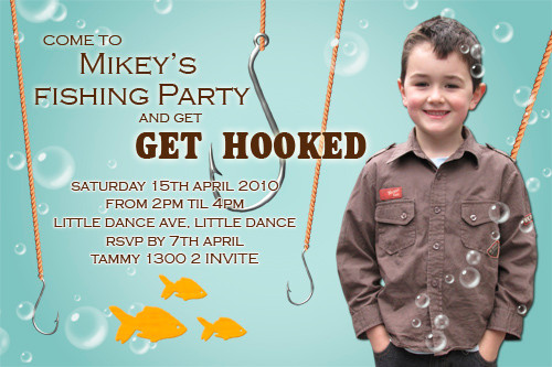 Fishing Themed Party Invitations Fishermans Fishing Birthday Party