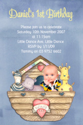 Noahs Ark First Birthday Party Invitations
