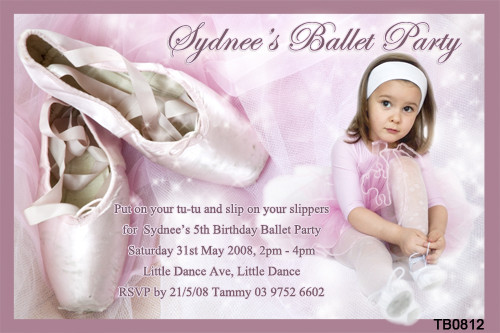 Ballet Invitations For Sale Ballerina Invitations Birthday ...