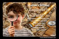 Explorer Birthday Party Invitations