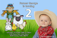 Farmyard Birthday Party Invitations