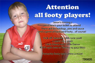 AFL Birthday Party Invitations