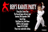 Martial Arts Birthday Party Invitation