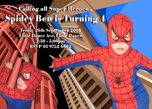 Spiderman party invitations to a spideman birthday party for sale spiderman birthday party invitation solutioingenieria Gallery