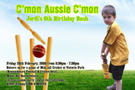 Cricket Birthday Party Invitation