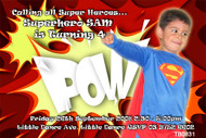 Superman Birthday Party Invitation