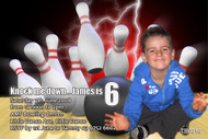 Ten Pin Bowling Birthday Party Invitation