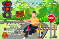Traffic School Birthday Party Invitation