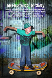 Skater boy Birthday Party Invitation