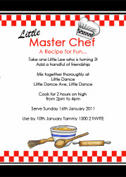 Masterchef Party Invitation