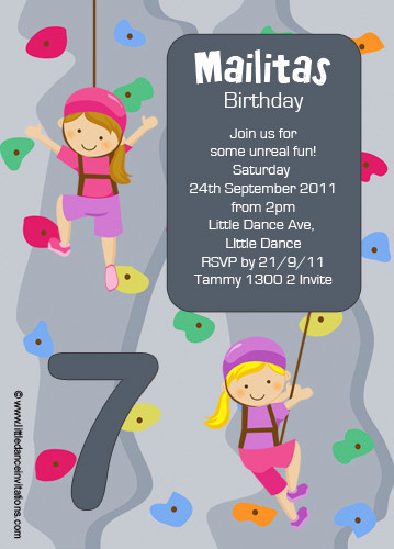 Rock climbing party themed invitation for sale buy rock climbing girls rock climbing party invitation filmwisefo