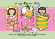 Girls Sleepover Party Invitation