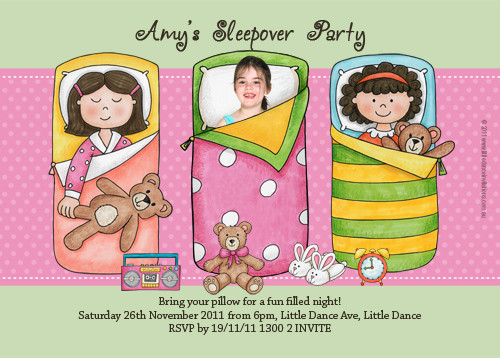Slumber party themed invitation for sale buy slumber party girls sleepover party invitation filmwisefo Choice Image