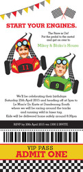 Go Karting Kids Birthday Party Invitations