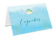 Sea Turtle Party Personalised Place Cards, Name Cards, Buffet & Lolly jar cards