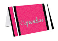 Pink VIP Event Ticket Party Personalised Place Cards, Name Cards, Buffet & Lolly jar cards