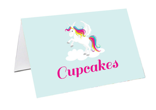 Unicorn Party Personalised Place Cards, Name Cards, Buffet & Lolly jar cards