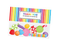 Rainbow party themed personalised birthday party lolly bag, loot bag and party favour bags.