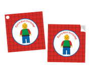 Lego Personalised Square Labels, Square Stickers and Square Tags.